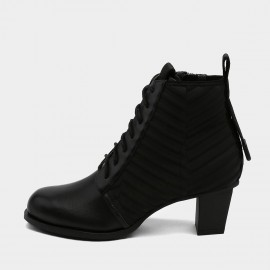 Jady Rose Military Inspired Black Boots (19DR10659)