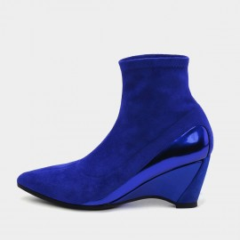 Jady Rose Sock-Style Blue Boots (19DR10660)