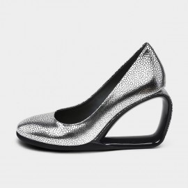 Jady Rose Peek-A-Boo Silver Wedges (19DR10661)