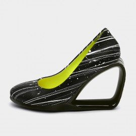 Jady Rose Peek-A-Boo Stripe Wedges (19DR10661)