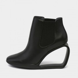 Jady Rose Heel Hath No Fury Black Wedges (19DR10663)
