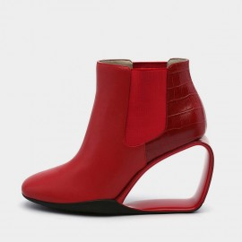 Jady Rose Heel Hath No Fury Red Wedges (19DR10663)