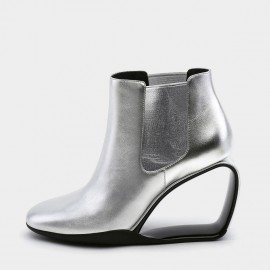 Jady Rose Heel Hath No Fury Silver Wedges (19DR10663)