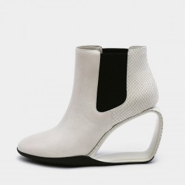 Jady Rose Heel Hath No Fury White Wedges (19DR10663)