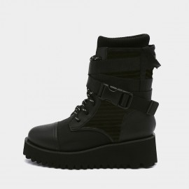 Jady Rose Chunky Black Hi-Tops (19DR10667)
