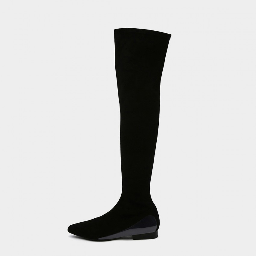 Jady Rose Straight Talker Black Knee-High Boots (19DR10671)