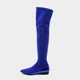 Jady Rose Straight Talker Blue Knee-High Boots (19DR10671)