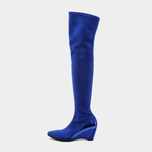 Jady Rose Great Lengths Blue Knee-High Boots (19DR10672)