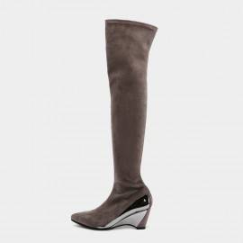 Jady Rose Great Lengths Khaki Knee-High Boots (19DR10672)