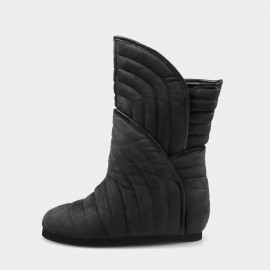 Jady Rose Ribbed Padding Charcoal Boots (19DR10674)