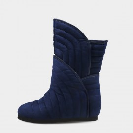 Jady Rose Ribbed Padding Navy Boots (19DR10674)