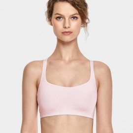 CRZ Yoga Lined Cross Back Pink Bra (H163)
