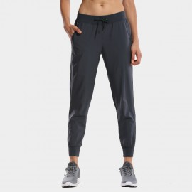 CRZ Yoga Easy Breezy Back Pockets Gunmetal Grey Pants (R408)