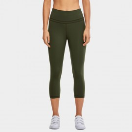 CRZ Yoga Super Stretch Ultra Comfort Olive Leggings (R418)