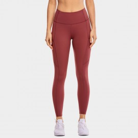 CRZ Yoga Scrunch Bum Tight Brick Leggings (R427)
