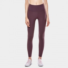 CRZ Yoga Scrunch Bum Tight Maroon Leggings (R427)