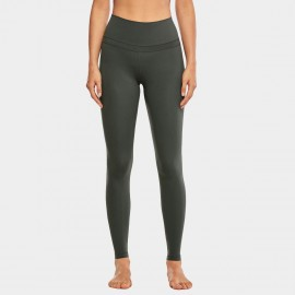 CRZ Yoga High Rise Seamless Stretch Green Leggings (R444)