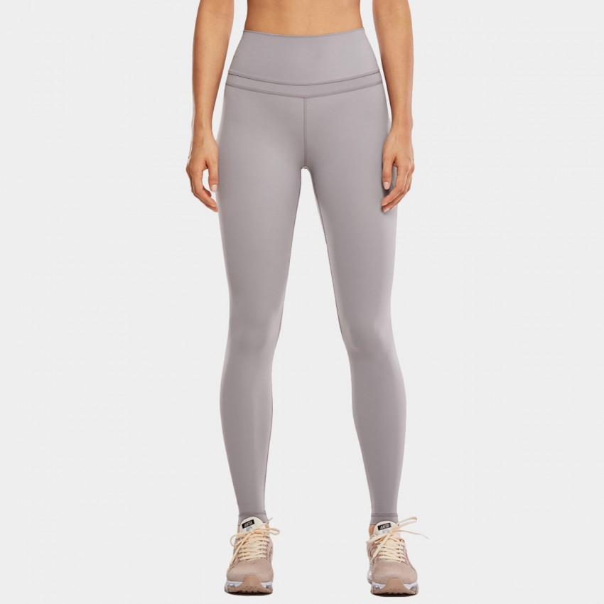 CRZ Yoga High Rise Seamless Stretch Grey Leggings (R444)