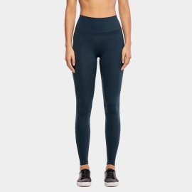 CRZ Yoga High Rise Seamless Stretch Navy Leggings (R444)