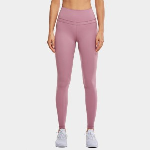 CRZ Yoga High Rise Seamless Stretch Pink Leggings (R444)
