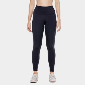 CRZ Yoga High Waist Tight Stretch Black Leggings (R448)