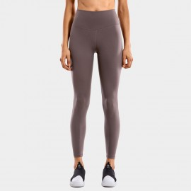 CRZ Yoga High Waist Tight Stretch Brown Leggings (R448)