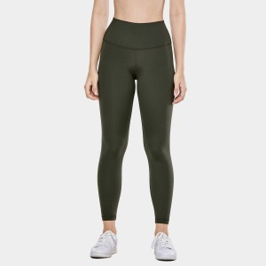CRZ Yoga High Waist Tight Stretch Green Leggings (R448)