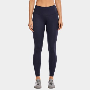 CRZ Yoga High Waist Tight Stretch Navy Leggings (R448)