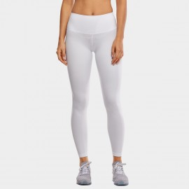 CRZ Yoga High Waist Tight Stretch White Leggings (R448)