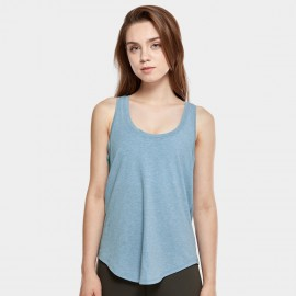 CRZ Yoga Lightweight Cross Back Blue Singlet Top (R744)
