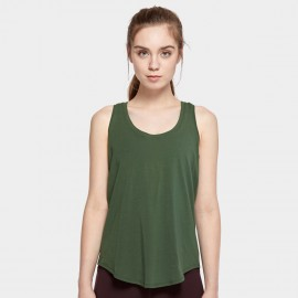 CRZ Yoga Lightweight Cross Back Green Singlet Top (R744)