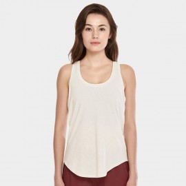 CRZ Yoga Lightweight Cross Back Ivory Singlet Top (R744)