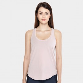 CRZ Yoga Lightweight Cross Back Pink Singlet Top (R744)