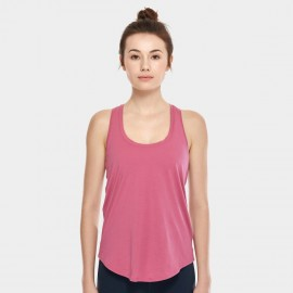 CRZ Yoga Lightweight Cross Back Rose Singlet Top (R744)
