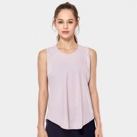 CRZ Yoga Breathable Mesh Back Sleeveless Pink Top (R752)