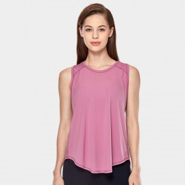 CRZ Yoga Breathable Mesh Back Sleeveless Rose Top (R752)