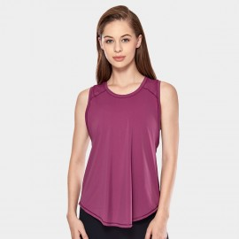 CRZ Yoga Breathable Mesh Back Sleeveless Wine Top (R752)