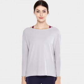 CRZ Yoga Ultra Comfort Long Sleeve Grey Tee (R761)