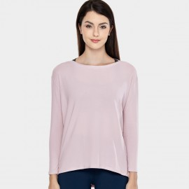 CRZ Yoga Ultra Comfort Long Sleeve Pink Tee (R761)