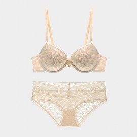 Lovevirl Cheeky Floral Lace Yellow Lingerie Set (9190)