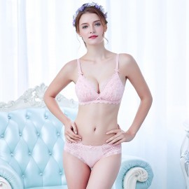 Lovevirl Flirty Sheer Detailed Pink Lingerie Set (9228)