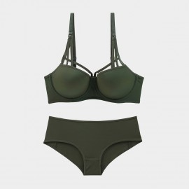 Lovevirl Sophisticated Cut Out Green Lingerie Set (9229)