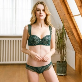 Lovevirl Ruffle It Up Green Lingerie Set (16002)