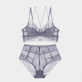 Lovevirl Oh Sweetheart Grey Lingerie Set (18406)
