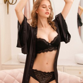 Lovevirl Set My Soul On Fire Black Lingerie Set (19503)