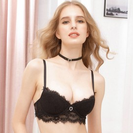 Lovevirl Sweetheart Lace Black Lingerie Set (19506)