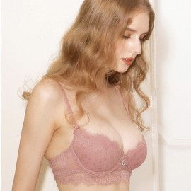 Lovevirl Sweetheart Lace Pink Lingerie Set (19506)