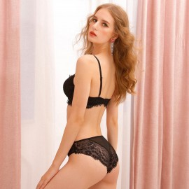 Lovevirl Teaser Lace Black Lingerie Set (19507)