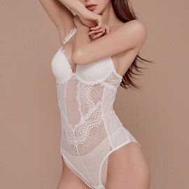 Lovevirl Scintillating Sheer White Bodysuit (21772)