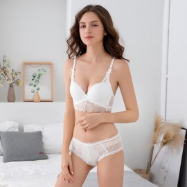 Lovevirl A Little More Lace White Lingerie Set (62813)